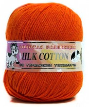 Пряжа Color City МИЛК КОТТОН (MILK COTTON) 014 оранж