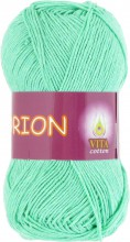 Пряжа Vita cotton ORION 4577 св.зел.бирюза