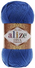 Пряжа Alize DIVA STRETCH 132 василек
