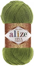 Пряжа Alize DIVA STRETCH 210 зеленый