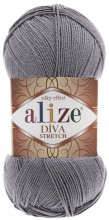 Пряжа Alize DIVA STRETCH 253 св.серый