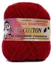 Пряжа Color City МИЛК КОТТОН (MILK COTTON) 016 красный