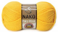 Пряжа Nako PURE WOOL 11206 желтый