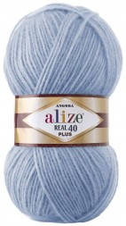 Пряжа Alize ANGORA REAL 40 PLUS 40 голубой