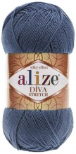 Пряжа Alize DIVA STRETCH 353 т.джинс