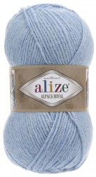 Пряжа Alize ALPACA ROYAL 356 голубой