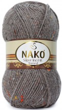 Пряжа Nako SUPER INCI HIT TWEED 1367 какао