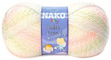 Пряжа Nako BABY ANGEL 70429 бел/зел/желт/роз