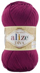 Пряжа Alize DIVA SILK EFFECT 326 т.фуксия