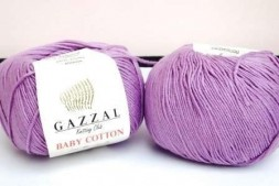 Пряжа Gazzal BABY COTTON 3414 сирень