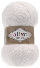 Пряжа Alize ALPACA ROYAL 55 белый
