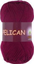 Пряжа Vita cotton PELICAN 3955 винный