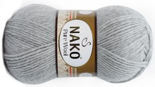 Пряжа Nako PURE WOOL 195 серебристый