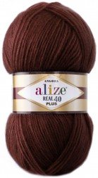 Пряжа Alize ANGORA REAL 40 PLUS 57 бордовый