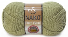 Пряжа Nako PURE WOOL 268 хаки