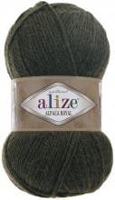 Пряжа Alize ALPACA ROYAL 567 т.зеленый
