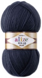 Пряжа Alize ANGORA REAL 40 PLUS 58 т.синий