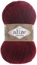Пряжа Alize ALPACA ROYAL 57 бордо
