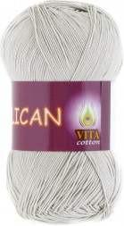 Пряжа Vita cotton PELICAN 3965 св.серый