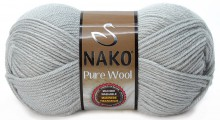 Пряжа Nako PURE WOOL 3298 серый