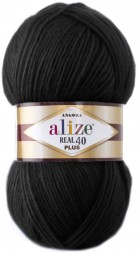 Пряжа Alize ANGORA REAL 40 PLUS 60 черный