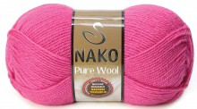 Пряжа Nako PURE WOOL 4569 малина