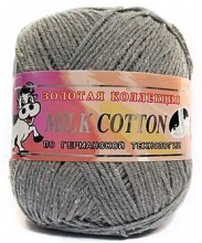 Пряжа Color City МИЛК КОТТОН (MILK COTTON) 026 серый