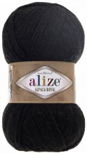 Пряжа Alize ALPACA ROYAL 60 черный