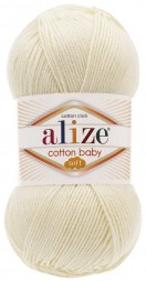 Пряжа Alize COTTON BABY SOFT 62 молочный