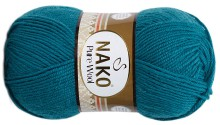 Пряжа Nako PURE WOOL 5400 петроль