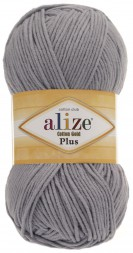 Пряжа Alize COTTON GOLD PLUS 21 серый