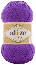 Пряжа Alize DIVA SILK EFFECT 325 т.сирень