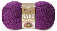 Пряжа Nako PURE WOOL 60 чернослив