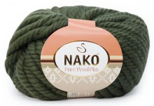Пряжа Nako PURE WOOL PLUS 10267 ива
