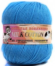 Пряжа Color City МИЛК КОТТОН (MILK COTTON) 033 лесной эльф