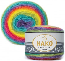 Пряжа Nako ANGORA LUKS COLOR 81920 радуга