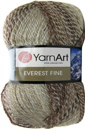 Пряжа Yarnart EVEREST FINE 8022 беж принт