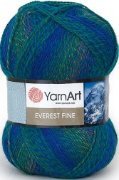 Пряжа Yarnart EVEREST FINE 8023 т.бирюза принт