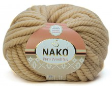 Пряжа Nako PURE WOOL PLUS 1670 кремовый
