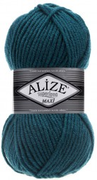 Пряжа Alize SUPERLANA MAXI 212 петроль