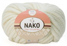 Пряжа Nako PURE WOOL PLUS 208 белый