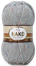 Пряжа Nako SUPER INCI HIT TWEED 195 св.серый
