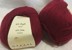 Пряжа Gazzal BABY COTTON 3442 бордо