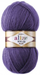 Пряжа Alize ANGORA REAL 40 PLUS 206 т.сирень