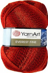 Пряжа Yarnart EVEREST FINE 8027 вишня принт