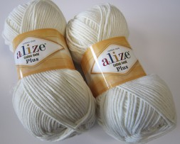 Пряжа Alize COTTON GOLD PLUS 62 молочный