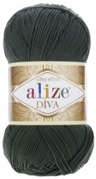 Пряжа Alize DIVA SILK EFFECT 131 хаки