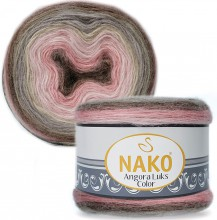 Пряжа Nako ANGORA LUKS COLOR 81911 пудра/серый