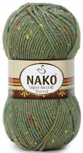 Пряжа Nako SUPER INCI HIT TWEED 6440 хаки