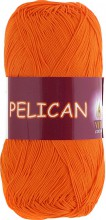 Пряжа Vita cotton PELICAN 3994 морковный